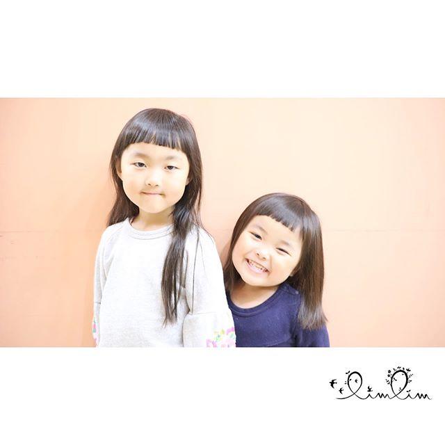 ・オン眉が似合う姉妹・お姉ちゃんとお揃い嬉しいね♡